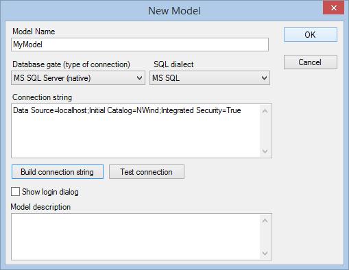 Data Model Editor - new model