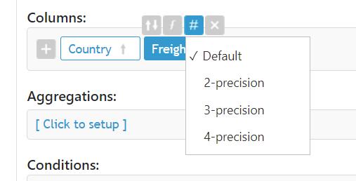 Display format in ColumnsBar